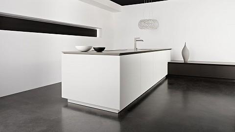 Eggersmann wit kookeiland met betonlook blad - moderne keuken, ASWA Keukens