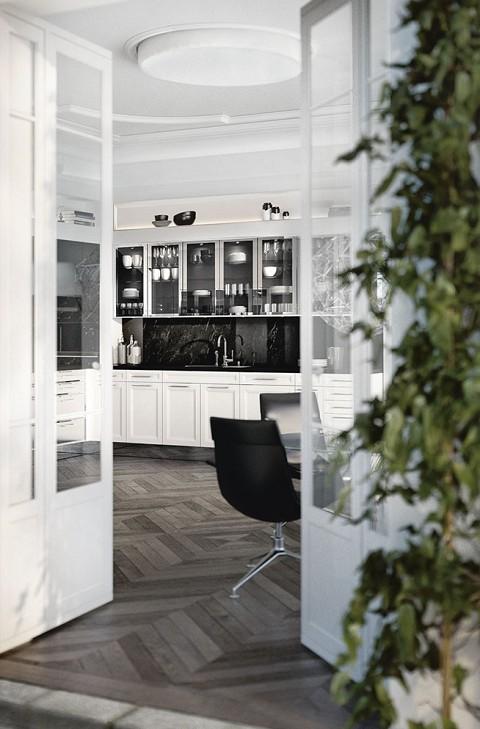 SieMatic Classic BeauxArts met glazen kasten en kaderfronten, ASWA Keukens