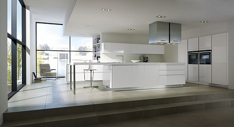 SilverLine Keukens, witte moderne keuken, ASWA Keukens
