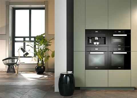 Miele black line stoomoven oven en koffiemachine