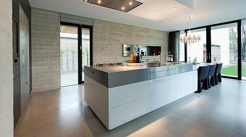 RVS keukenblad, RVS geborsteld Maatwerk keuken, ASWA Keukens