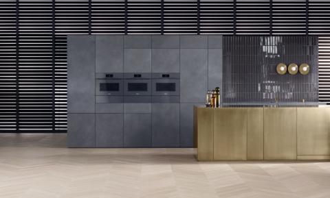 Miele Keukenapparatuur greeploos grafiet oven en warmhoudlade, ASWA Keukens