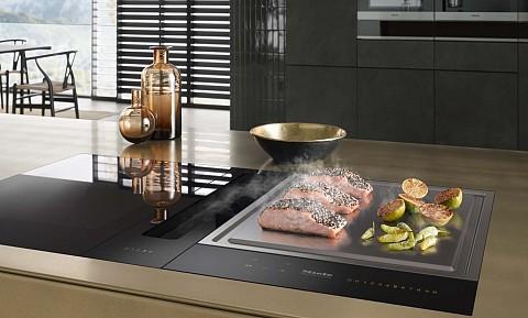 Miele SmartLine inductie kookplaat met teppanyaki plaat, Keukenapparatuur ASWA Keukens