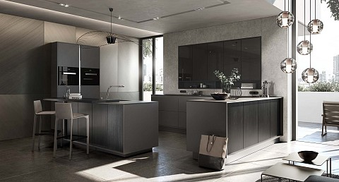 SieMatic Pure, kookeiland met bar, ASWA Keukens