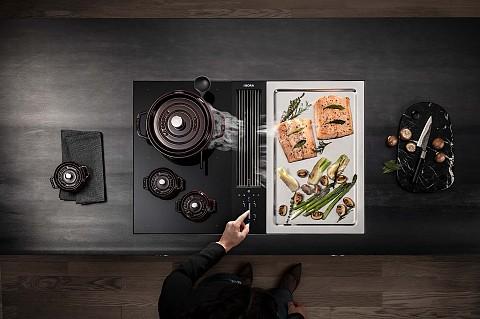 BORA Classic 2.0 grillplaat en inductie kookplaat met afzuiging en teppanyaki