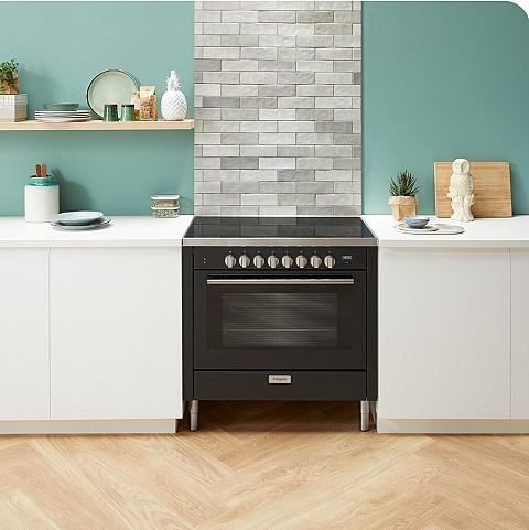 Pelgrim Inductiefornuis zwart met grote oven, Keukenapparatuur ASWA Keukens