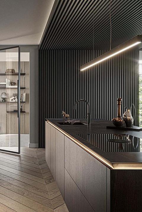 SieMatic SLX houten keuken met lichtlijst, ASWA Keukens