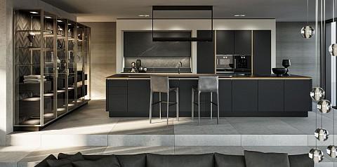 SieMatic SLX luxe keuken eiland met glazen kasten, ASWA Keukens