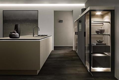 SieMatic Pure SLX kookeiland met glazen kasten, ASWA Keukens