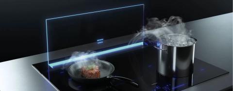 Siemens GlassdraftAir kookveldafzuiging met glas scherm, Keukenapparatuur ASWA Keukens