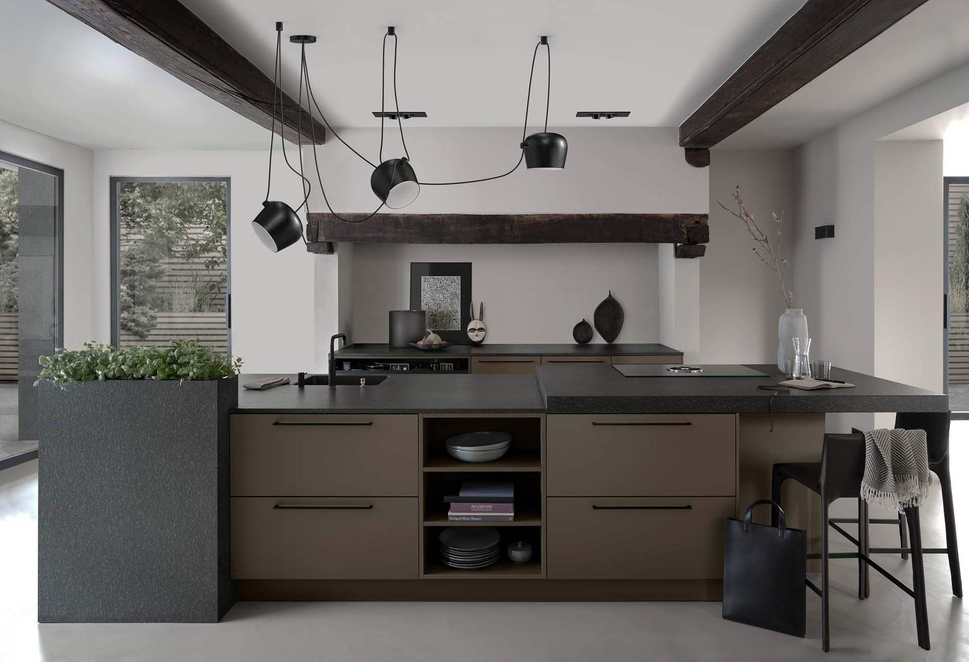 SieMatic Urbad keukeneiland met keukenblad Graniet, ASWA Keukens