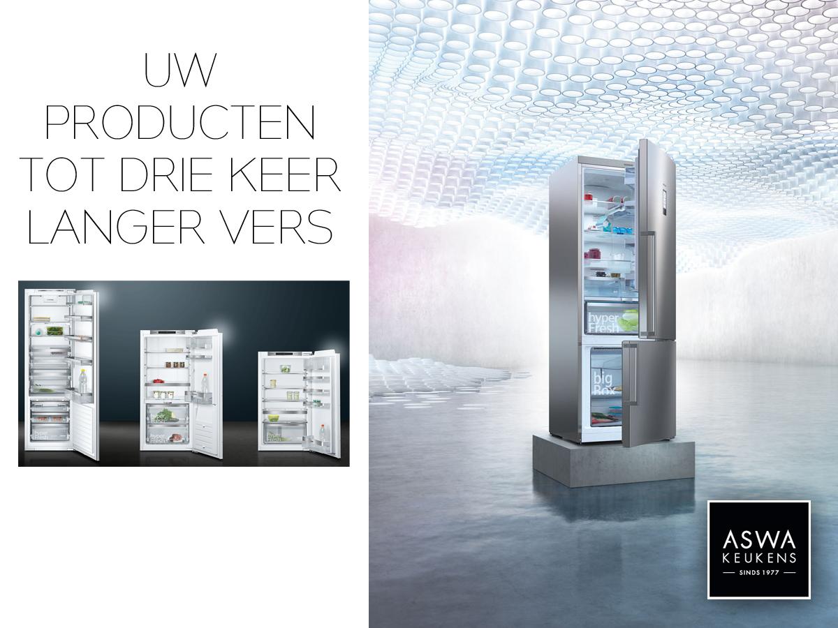 Nieuws Siemens HyperFresh iSensoric koelkast
