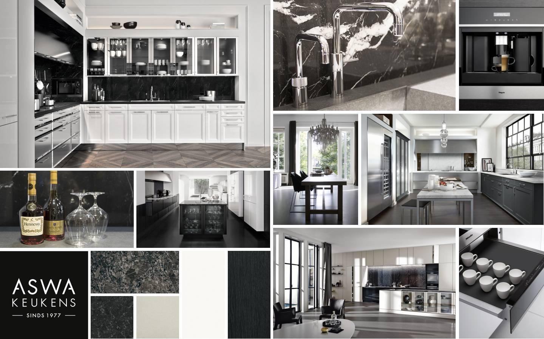 Van Lieshout Keukens : Moodboard zwart classic aswa keukens