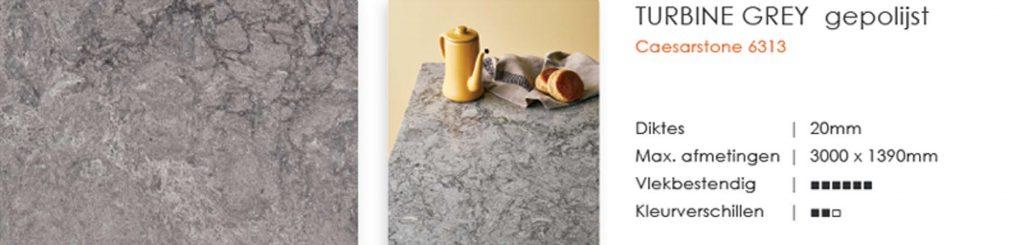 Jetstone composiet grijs werkblad TURBINE GREY