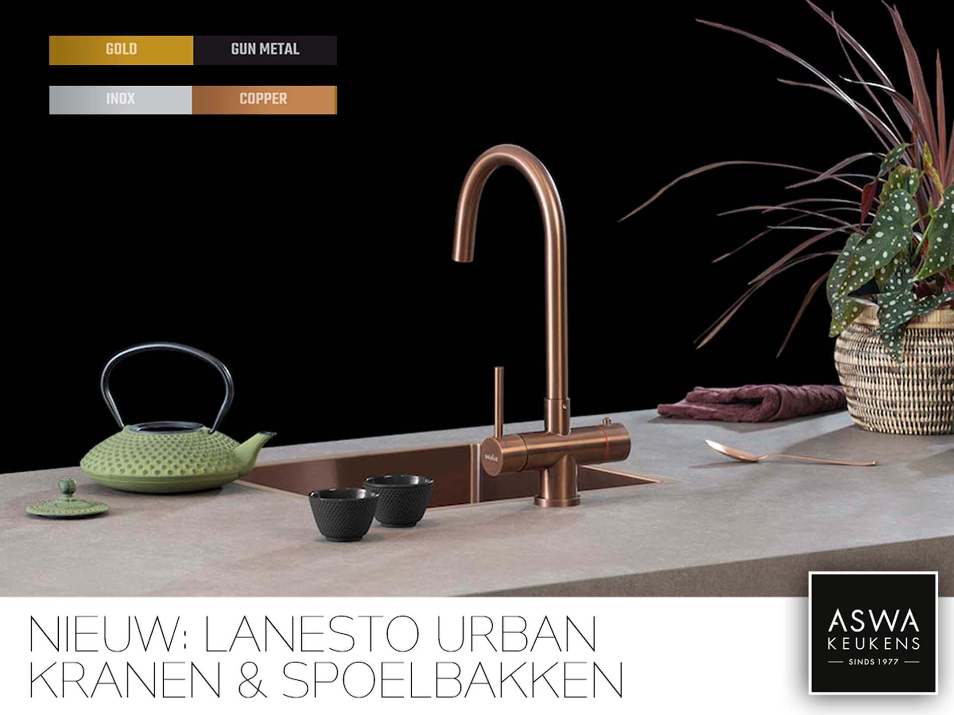 Lanesto Urban: de kraan / spoelbak die de stijl bepaalt!