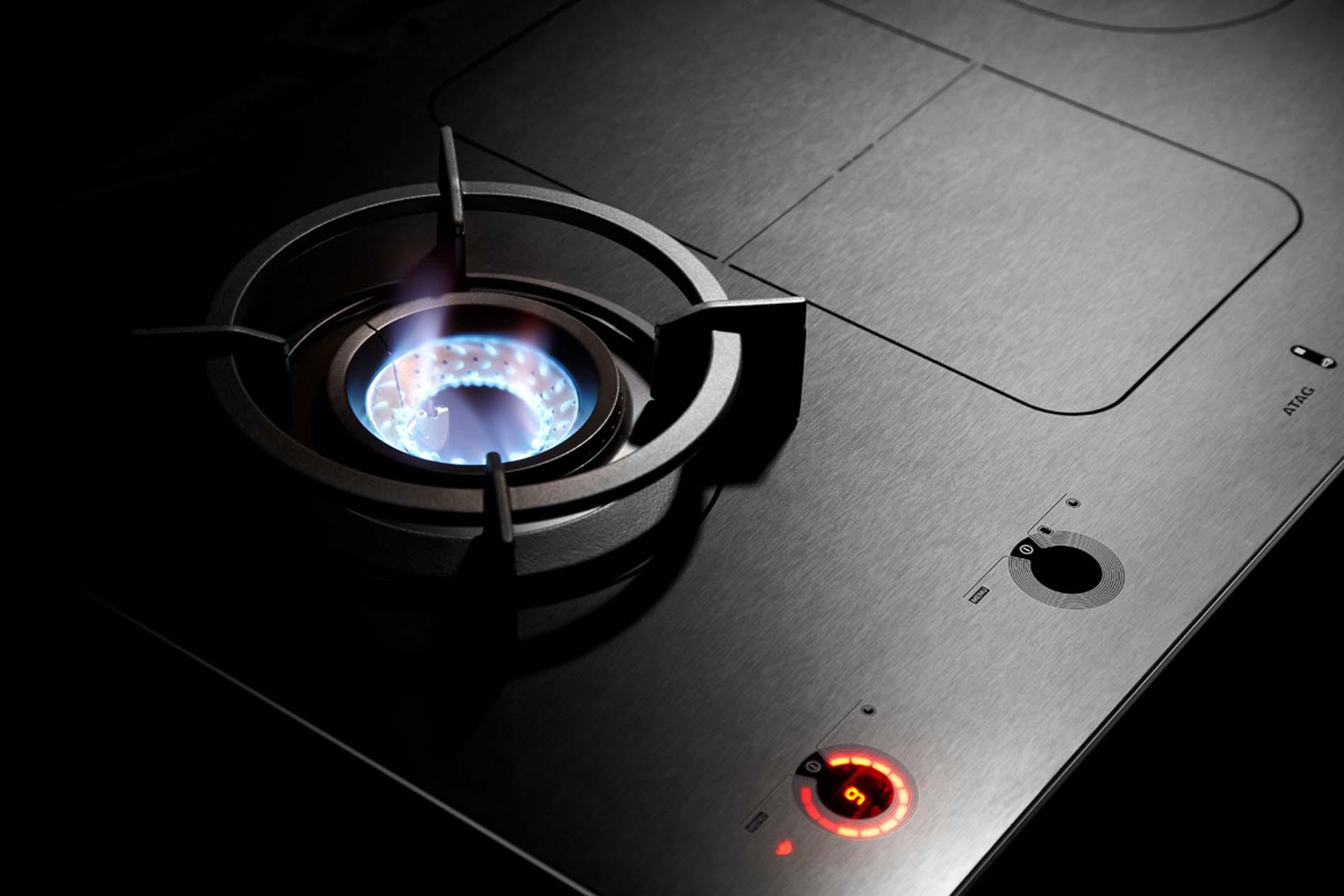 ATAG MAGNA inductie kookplaat met gas wokbrander, Keukenapparatuur ASWA Keukens