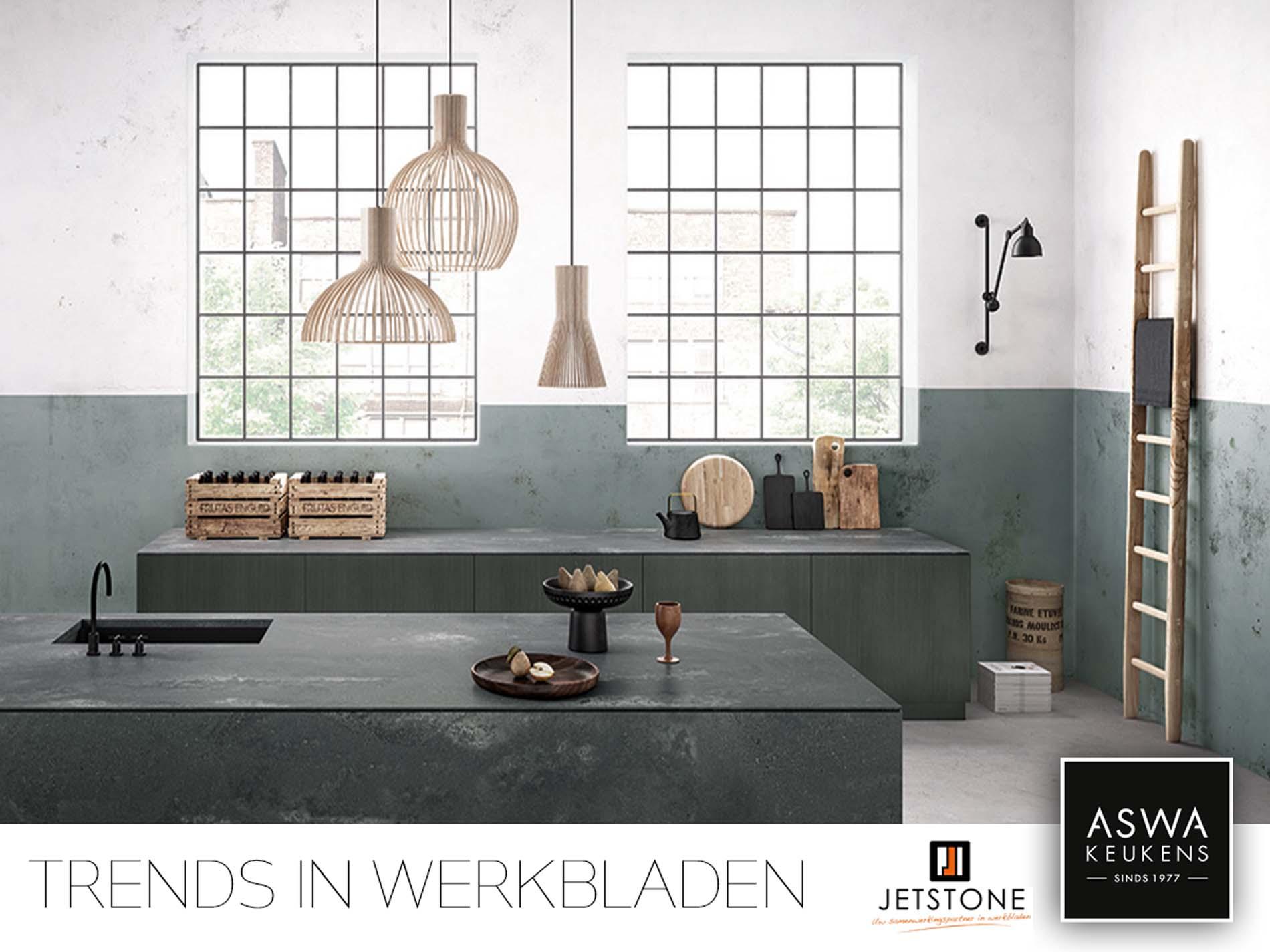 Trends in keuken werkbladen - Keuken Inspiratie Jetstone keukenwerkblad