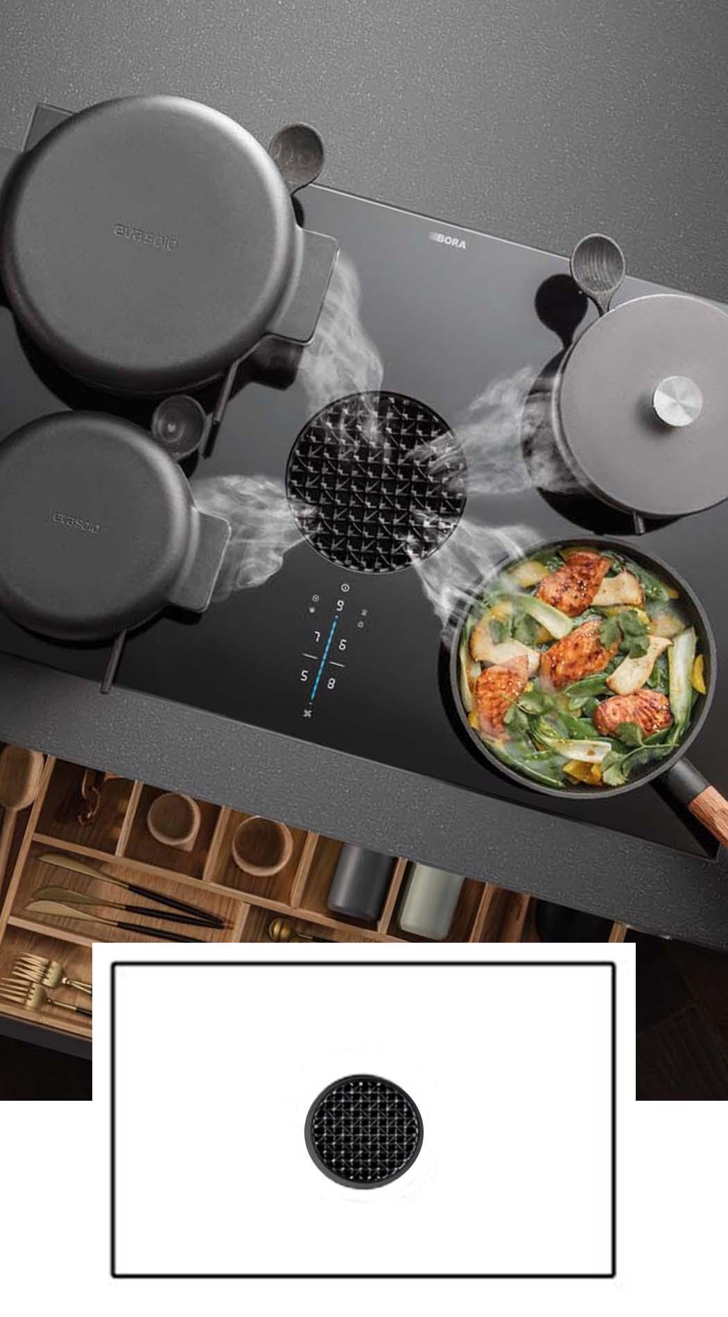 BORA X Pure - BORA kookplaat met afzuiging, ASWA Keukens