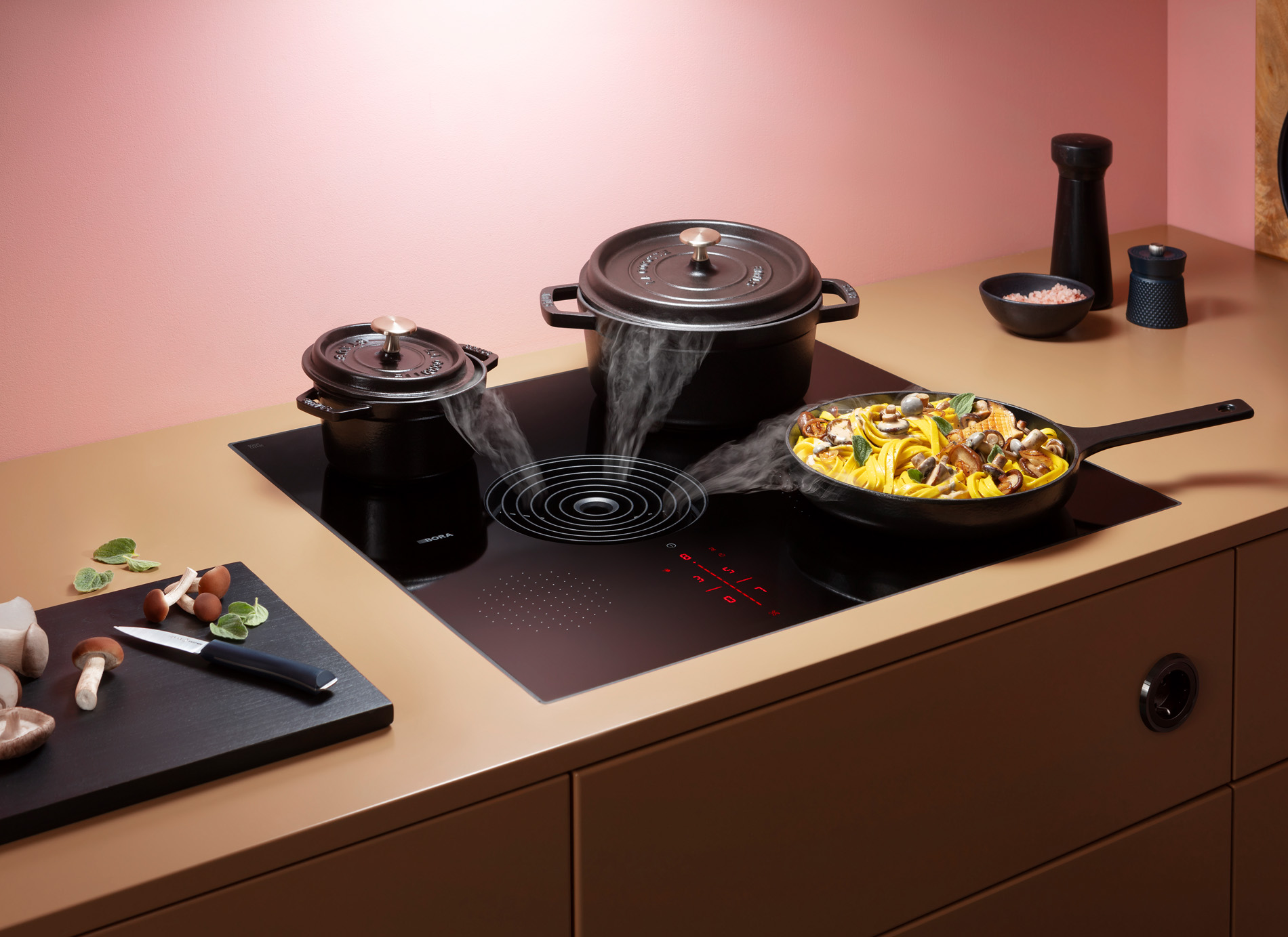 Compacte BORA S Pure kookplaat met asymmetrische afzuiging, Keukenapparatuur ASWA Keukens